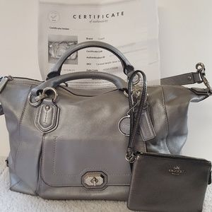 Coach Campbell leather Satchel & wallet